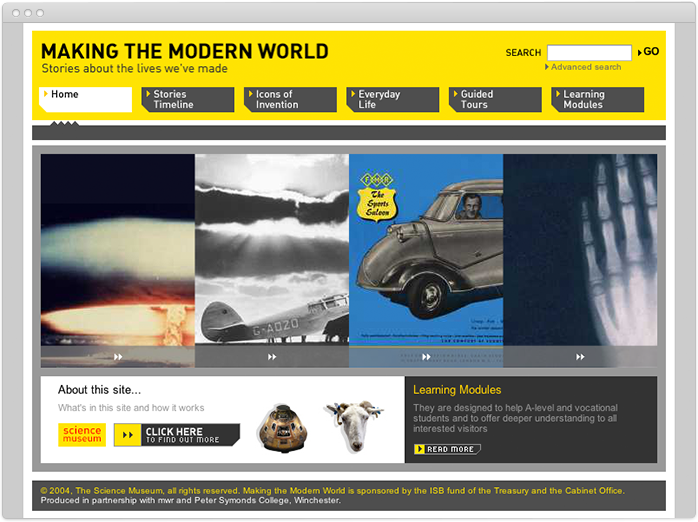 Making the Modern World homepage